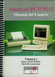 Amstrad PCW9512. Manual del Usuario Vol. I