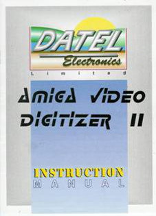 Amiga Video Digitizer II Instruction manual