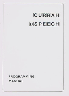 CURRAH MicroSpeech - Programming Manual