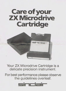 Care of your ZX Microdrive Cartridge