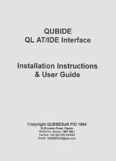 QUBIDE - QL AT/IDE Interface