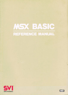 MSX BASIC. Reference Manual