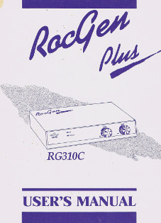 RocGen Plus RG310C- User' Manual