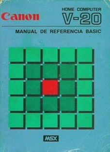 Canon V-20. MANUAL DE REFERENCIA BASIC